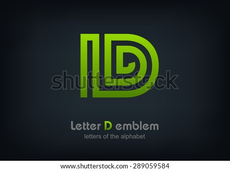 Letter D Logo Icon Design Template Elements Vector Illustration Eps 10