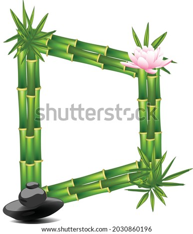 Letter  D made of bamboo tree Stok fotoğraf ©