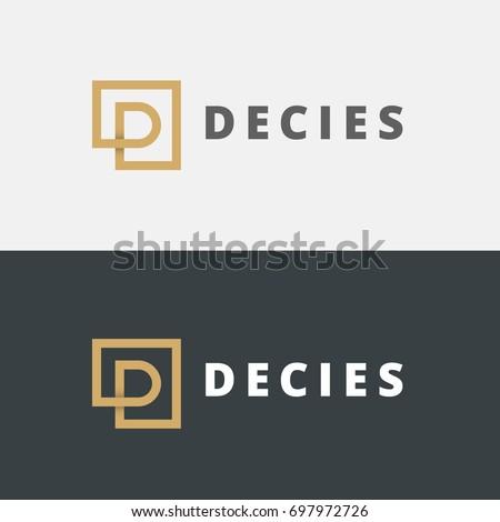 letter D or P logo design. vector logo concept