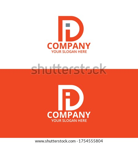 Letter DI Minimalist Concept Logo Template Vector, DI Logo Concept Stok fotoğraf ©