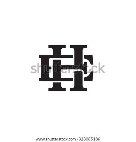 letter e and h monogram logo