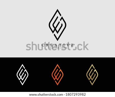 letter E and S design logo template  modern creative elegant Foto stock ©