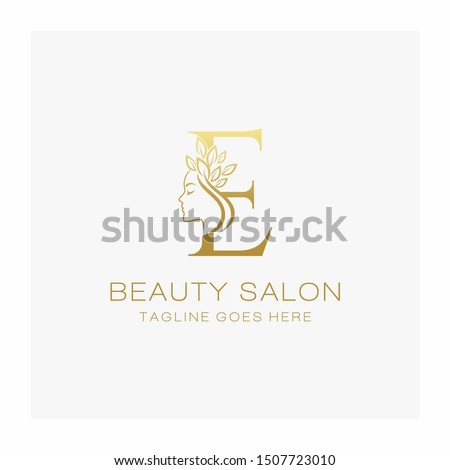 letter e beauty salon logo