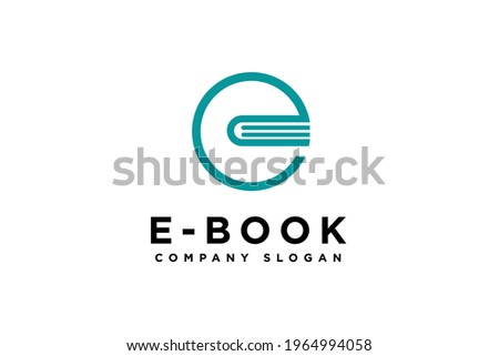 letter E Book Logo Education Flat Vector Design template element Stock photo ©