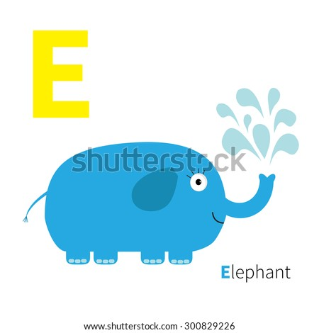 letter e elephant zoo alphabet