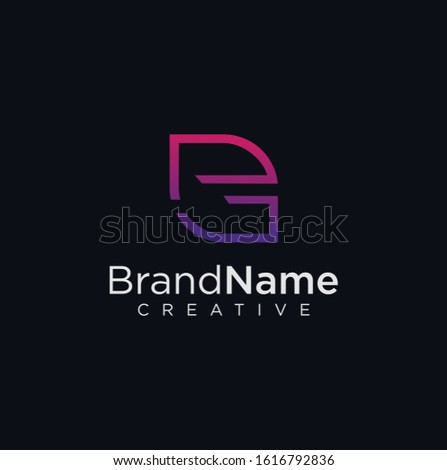 Letter E G GE Tech Logo Design Vector Stock  illustration .  E G  Logo Design Vector Stock .