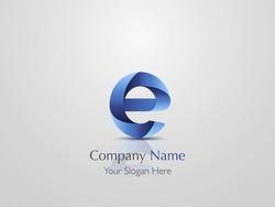 Letter e. Logo design. Vector illustration