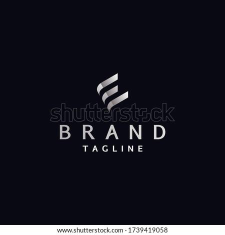 Letter E Logo Template Resembles Book Shape Foto stock ©