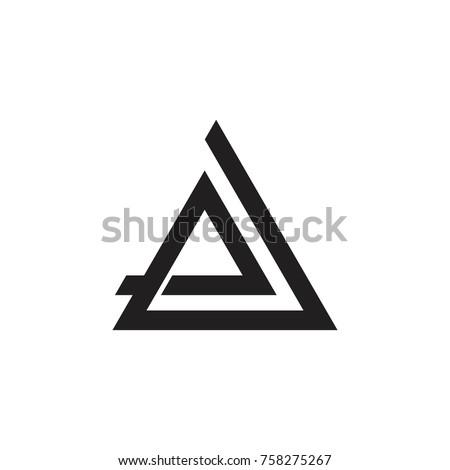 letter e triangle design logo vector