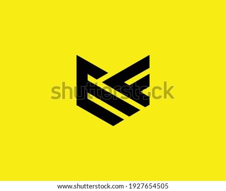 letter ef and fe logo design vector template Stok fotoğraf ©