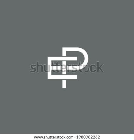 Letter EP logo or icon design ストックフォト ©