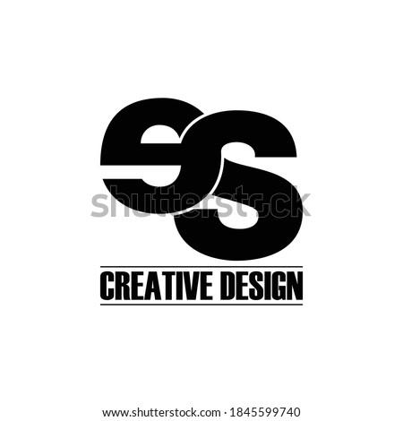 Letter ES simple logo design vector Foto stock ©