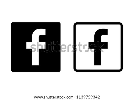 Stock Photo Letter f icon. Social media icon. facebook icon. facebook logo