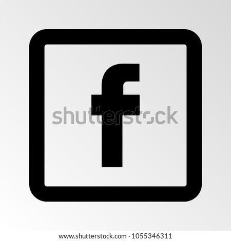 Letter F icon. Social media icon. Vector illustration