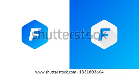 letter F logo design . modern letter F logo concept . vector illustration Foto stock ©