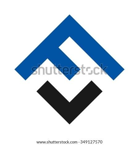letter F logo vector. Stock fotó ©