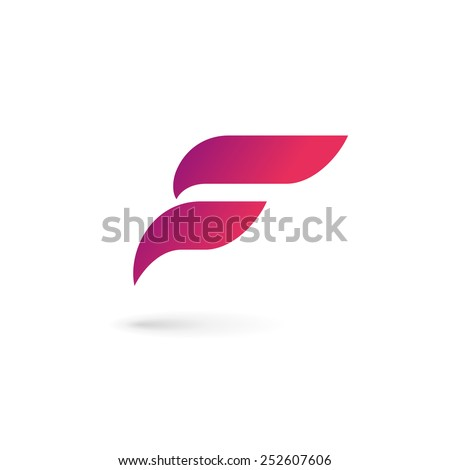 Letter F wing flag logo icon design template elements  Foto stock ©