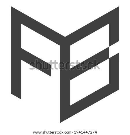 Letter FB logo design black and white logo elements. simple FB logo,Business corporate letter FB logo design vector. Simple and clean flat design of letter FB logo vector template
