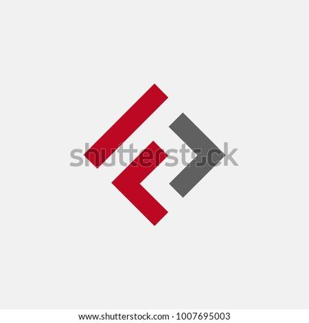 letter FL logo concept Stock fotó ©