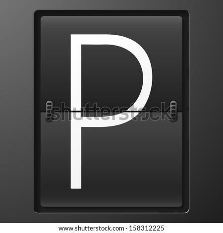 Letter from mechanical scoreboard alphabet #158312225