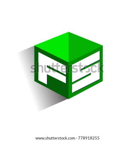 letter fs logo in hexagon shape