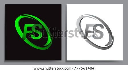 letter fs logotype design for