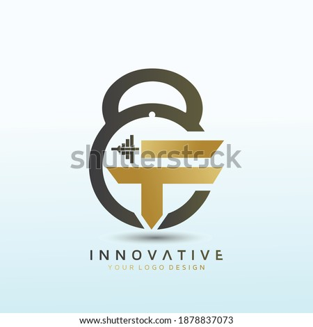 Letter FT fitness vector logo design, fitness logo design, dumbbell icon, Gym Logo Ideas and Fitness Logo Designs