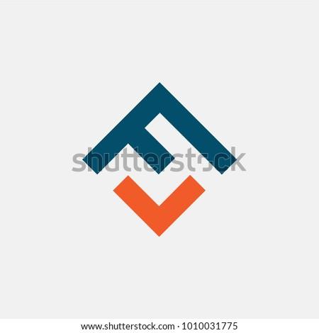 letter FV logo vector, icon alphabet Stock fotó ©