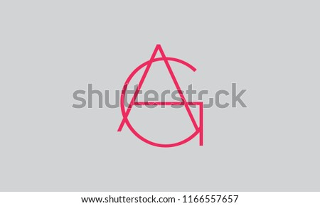 letter G, A, G A, A G modern and trendy shape logo design. Creative stylish abstract typography design for branding Photo stock ©