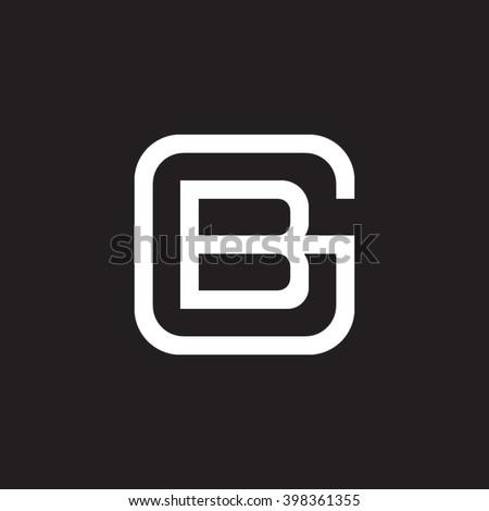 letter g and b monogram square
