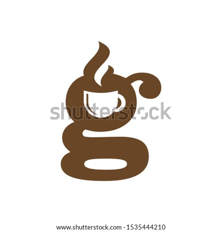 Letter G Coffee Shop and Cafe Restaurant Logo Vector Design Photo stock ©