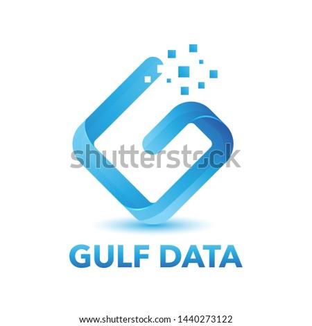 Letter G data logo design vector