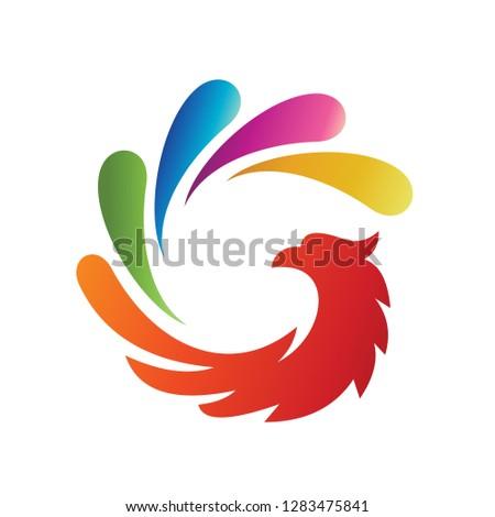 letter g force phoenix logo