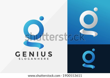 Letter G Genius Brand Identity Logo Template, Modern Logo Designs Vector Illustration Template Stok fotoğraf ©