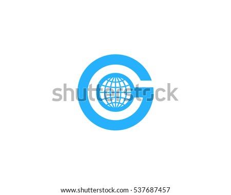 letter g globe logo design template element