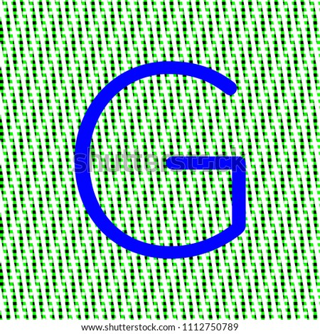 letter g in bright blue color