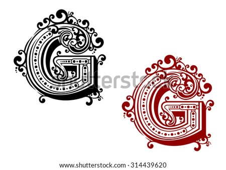 Ornamental Capital Letters - Download Free Vector Art, Stock