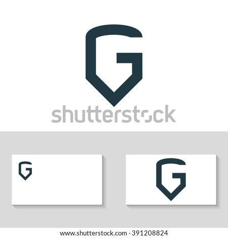 letter g logo template the letter g in the form of shield business logo