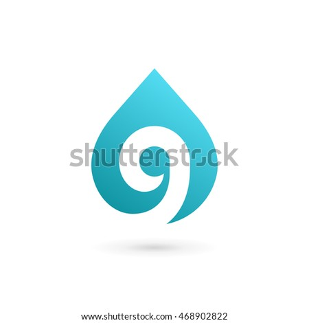 letter g number 9 water drop