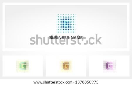 Letter G Pixel Dots Logo