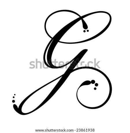 Letter G - Script