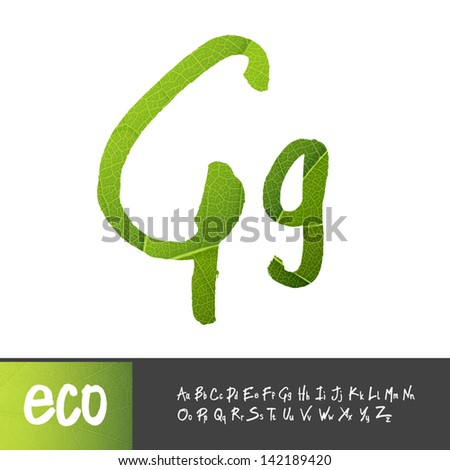 Letter G  Uppercase And  G Logo Green
