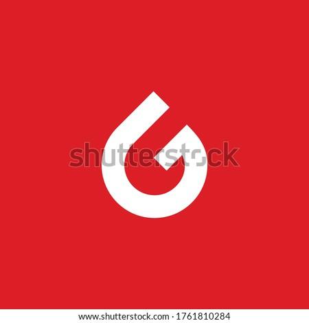 Letter G water drop logo design concept Stok fotoğraf ©