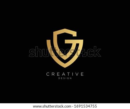 Letter GV VG Logo Design, Creative Minimal GV VG Monogram In Gold Color Stok fotoğraf ©