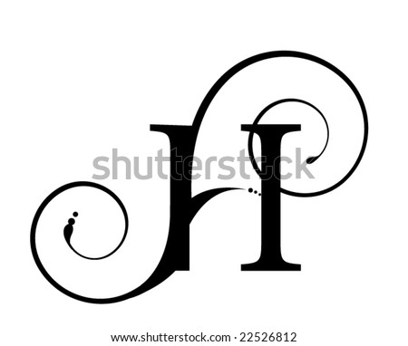 stock vector : Letter H. Save to a lightbox ▼. Please Login.
