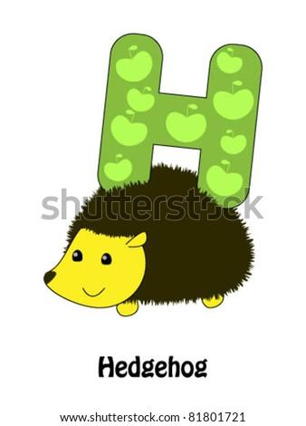 """Letter """"H"""" and hedgehog - alphabet for children"""