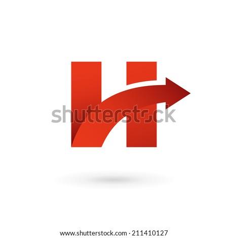 h Letter Logo Design Letter h Arrow Logo Icon