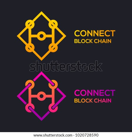 Letter H Colorful Dots logo with Modern line Cross Square shape, Connect Technology and Digital, Blockchain, Bitcoin Cryptocurrency data concept for your Corporate identity