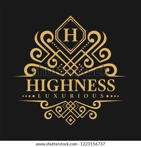 Letter H Logo - Classic Luxurious Style Logo Template Stock fotó ©