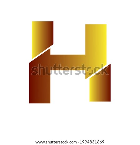 Letter H Logo High Res Stock Image , Vector Illustration  Stock fotó ©